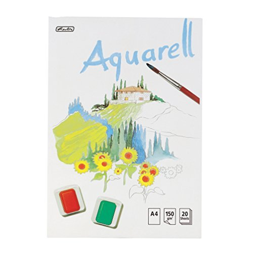 Herlitz Aquarellblock / DIN A4 / 20 Blatt / 150g/m²