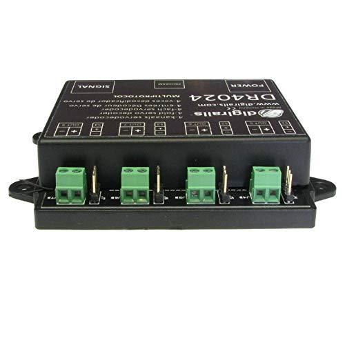 Digikeijs DR4024 - Komplett-Set inkl. 1x Servodecoder, 4X Mini Servo-und 4X 50cm Verlängerungskabel