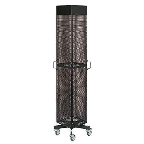 ebos Displayständer, Verkaufständer   4-seitig, schwarz, drehbar/fahrbar, 30cm breit (30 cm)