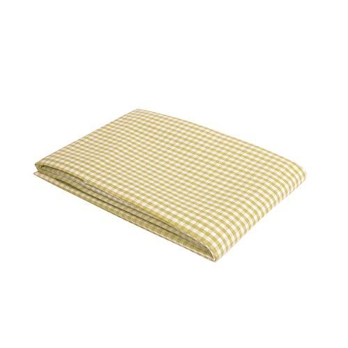 """Vaitkute 210038 Halbleinen Tischdecke """"Karo"""" 140 x 140 cm, mit Briefecken, 50% Leinen und Baumwolle, 60 Celsius waschbar, 210 g / m2, weiß / grün kariert"""