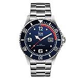 Ice-Watch - Ice Steel Marine Silver - Montre Bleue pour Homme avec Bracelet en Metal - 015775 (Large)