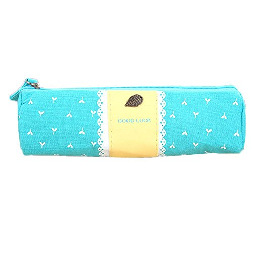 Set di penna caso High quality durable washable personality practical gifts student piccolo fresh creative cotton portable zipper cute, blue