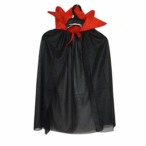 ns Halloween Kostüm Wizard Hexe Umhang Cape Robe für junge Mädchen (Schwarz) (Waschbär-halloween-kostüm)