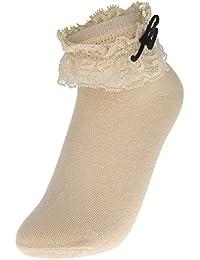 EOZY 3pares Calcetines Corto Encaje Para Mujer