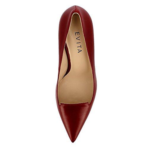 Evita Shoes Jessica, Scarpe col tacco donna Rosso scuro