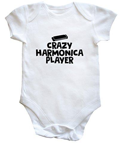 Hippowarehouse Crazy Harmonica Player Baby Vest Bodysuit (Short Sleeve) Boys Girls