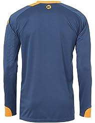 Camiseta de manga larga para hombre colour azul Kempa Peak azul (azul/naranja), color  - petrol/orange, tamaño XXXL