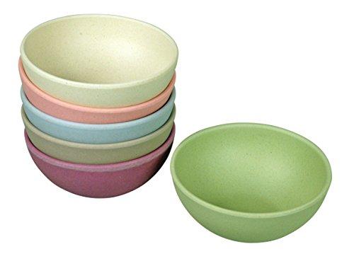 zuperzozial Lot de 6 petits bols « Tasty Treats »– en fibres de bambou et de maïs, Violet, D 10 x H 4.4 cm, 130ml