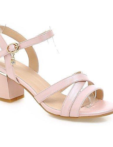 UWSZZ IL Sandali eleganti comfort Scarpe Donna-Sandali-Formale-Aperta-Quadrato-Finta pelle-Nero / Blu / Rosa / Bianco Blue