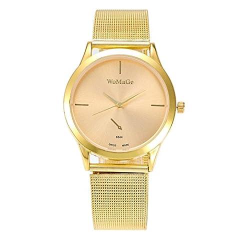 Femme montre, Fuibo 2017nouveaux Mode femelle horloges montre à quartz de luxe Femme en maille Sangle montre b