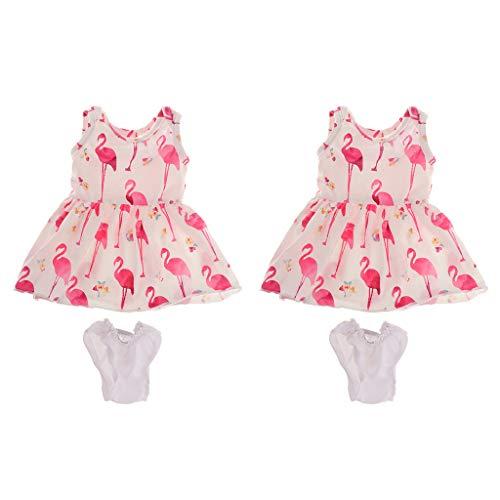 puppe Kleidung Puppenkleidet ärmelloses Sommerkleid Partykleid mit Unterhose für 18 Zoll Mädchen Puppe ()