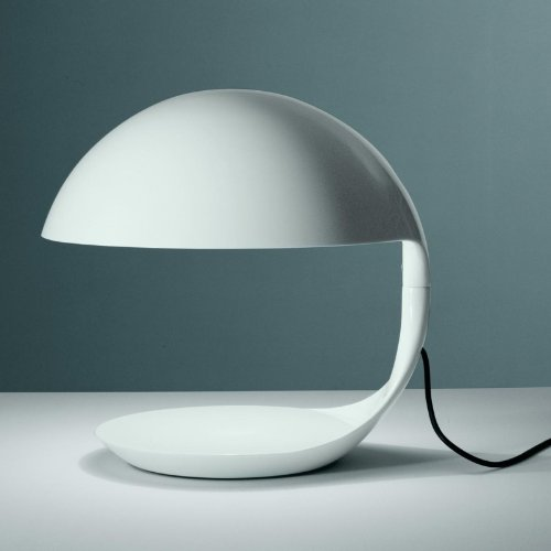 Martinelli Luce Cobra lampada da tavolo, bianco opaco h: 40cm escl. Lampadina