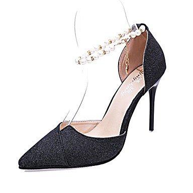 CH&TOU Da donna-Tacchi-Formale-Tacchi / A punta-A stiletto-Sintetico-Nero / Argento / Dorato black