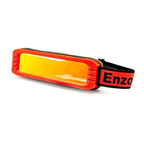 EnzoDate Polarisierte Skibrille Flexible Weitsicht-UV400-Snowboard-Sonnenbrille Leichtes gutes oder schlechtes Wetter Wintersport
