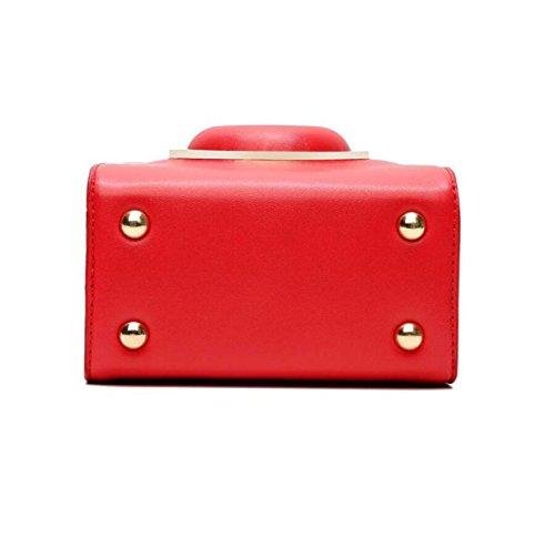 Mini-Mode-Ring-Kameratasche Temperament Handtaschen Handtasche Schultertasche Messenger Bag Freizeit Red