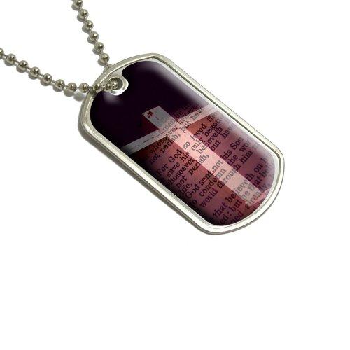 Kreuz und Bibel Vers John 3–16Für SO hat Gott die Welt geliebt Militärische Erkennungsmarke Gepäck Schlüsselanhänger