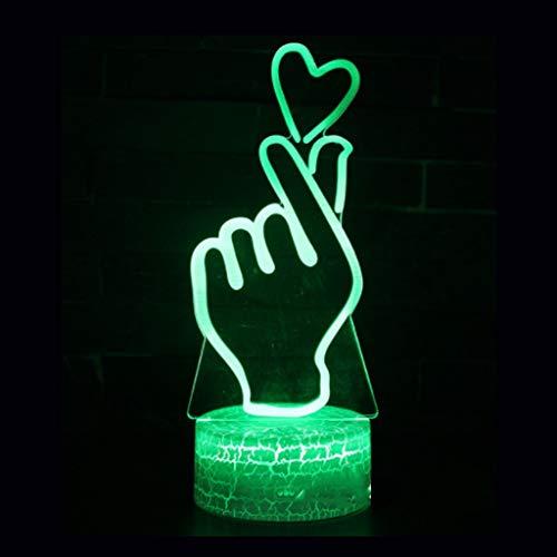 Veilleuses 3D LED, Illusion Nuit Lumière Nouveauté Créative Coloré Gradient Bébé Enfants Table De Chevet Lampe Cadeau De Noël (Edition : Touch Control)