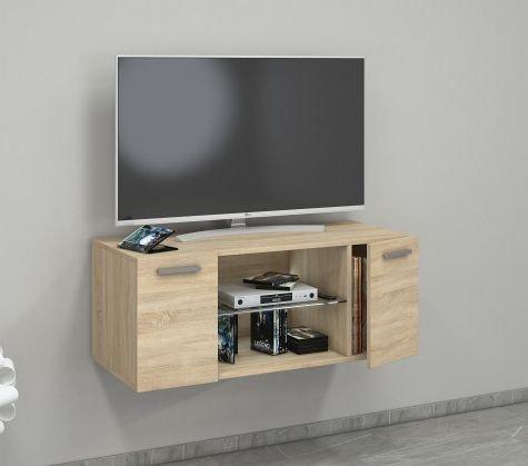 VCM Jusa 95 Meuble TV, Bois, Chêne Sonoma, 40 x 95 x 36 cm