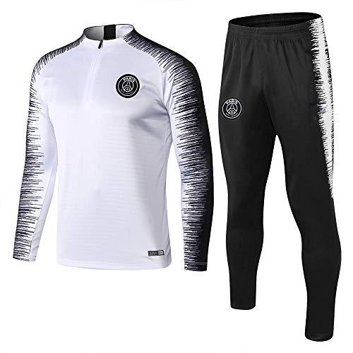 XunZhiYuan Maillot de Football Respirant et à séchage Rapide à Manches Longues et Pantalons Team Wear Fitness Sportswea