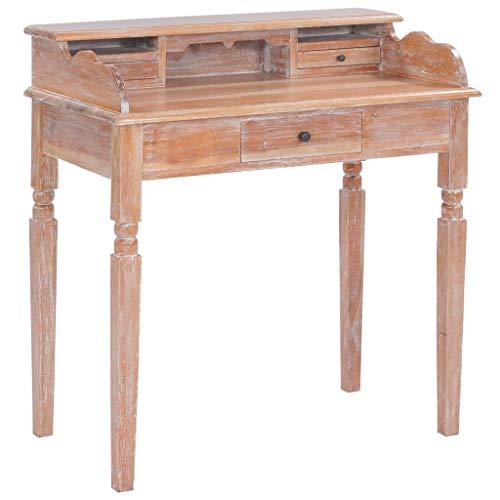 junhaofu Schreibtisch 90 x 50 x 98 cm Massivholz Mahagoni Möbel Büromöbel Schreibtische - Antike Mahagoni-schreibtische
