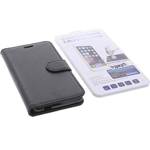 foto-kontor Tasche für Gigaset GS160 / GS170 Book Style schwarz Schutz Hülle Buch + Schutzglas