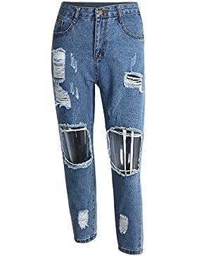 Simplee Apparel Damen Jeans Basi