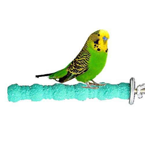 Zeagro, trespolo in Legno per Uccelli, pappagalli, pappagallini, parrocchetti, calopsitte, Conure, Amore, Gabbia Giocattolo (18 cm)