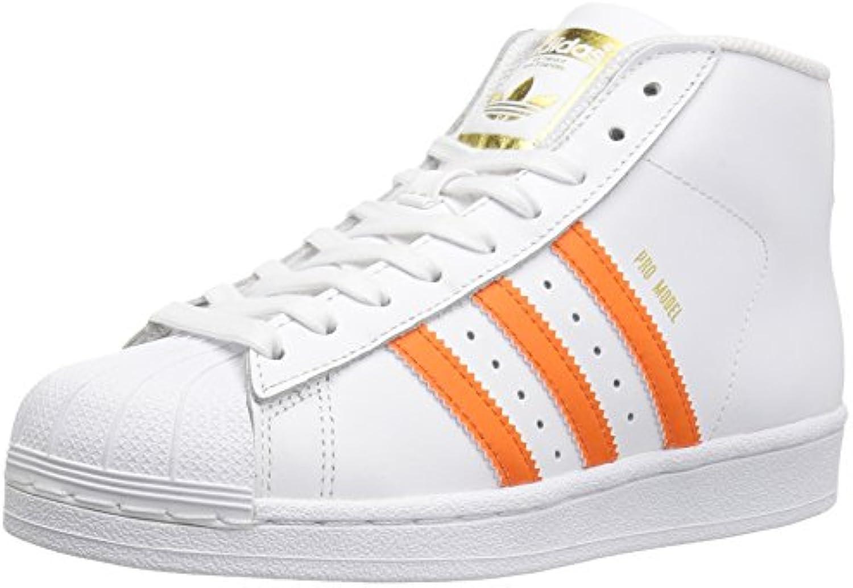 adidas originaux pro modèle j baskets garçons baskets j orange, blanc / énergie métallique ou o r, 3,5 m us gra nd enfant 15cf05