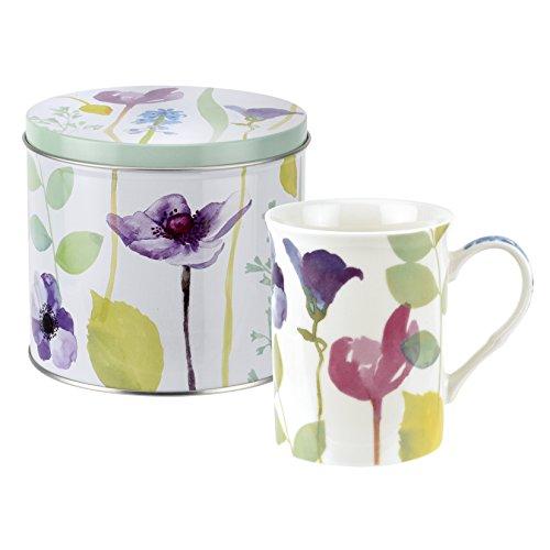 Wasser Garden Becher und Zinn Set, Porzellan, mehrfarbig, 13x 13x 11,5cm -