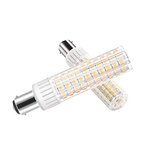 B15D-LED-Lampe-Glühlampe-8.5W, B15D LED Leuchtmittel, Dimmbar, 1105Lumen, 90-265V AC, 360 Grad Winkel, CRI> 90Ra, Warm Weiß 3000K, Ersatz für 100W B15D Halogenlampen(1er Pack) (Bad-leuchte Mit Ventilator)