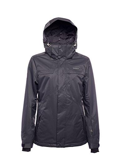 Zimtstern Damen Snowy Herringbone Snow Jacket, Black, L