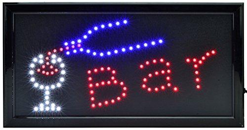 LED SCHILD LEUCHTSCHILD XXL REKLAME LEUCHTREKLAME WERBUNG DISPLAY SIGNS BAR (Leuchtreklame Für Bars)