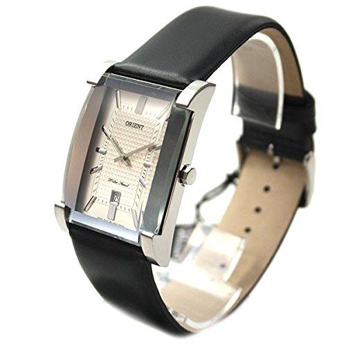 Orient orologio Traditional Style Orologio da uomo data Cinturino in pelle argento FUNDJ004W0