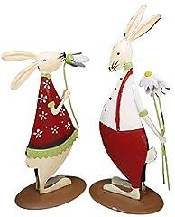 Idea Regalo - khevga coniglietti di metallo - Set di 2