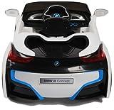 BMW i8 Concept Stromer Cabriolet Ride-On 12V Elektro Kinderauto Kinderfahrzeug Kinder Elektroauto (Weiss) -