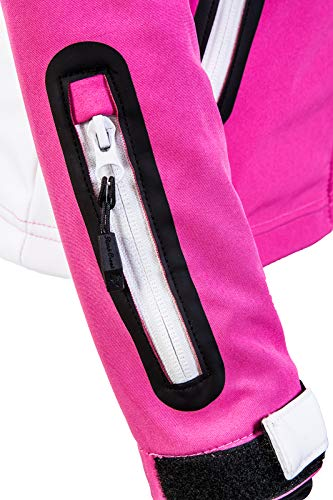 Rock Creek Damen Softshell Jacke Windbreaker Regenjacke Übergangsjacke Softshelljacke Damenjacke Regenmantel Outdoorjacke Kapuze D-402 Pink XS - 6