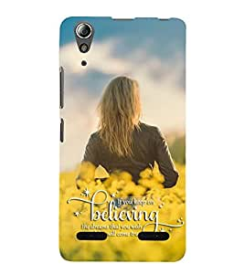 FUSON Believing In Dreams Lady 3D Hard Polycarbonate Designer Back Case Cover for Lenovo A6000 :: Lenovo A6000 Plus :: Lenovo A6000+