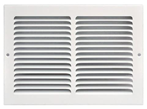 Speedi-Grille SG-128 RAG 12-Inch by 8-Inch White Return Air Vent Grille with Fixed Blades by Speedi-Grille