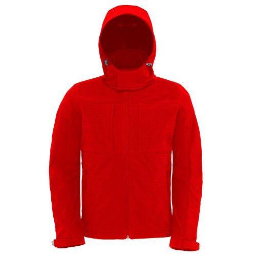 B&C Collection Herren Modern Jacke Rot