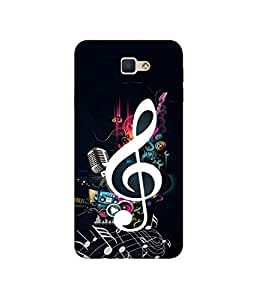 Casotec Music Design 3D Printed Hard Back Case Cover for Samsung Galaxy J5 Prime
