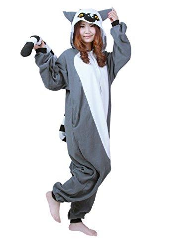 Honeystore Neu Unisex Pyjamas Trickfilm bezaubernd Grau Affe Cosplay Kostüm Pyjamas L