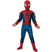 Rubie's Marvel Comics Collection, Amazing Spider-man 2, Deluxe Spider-man Costume, Child Large - Child Large One Color by Rubies