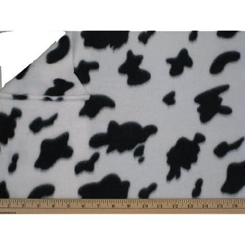 "LA Linen â""¢ Printed Polar Fleece by the yard 58/60-Inches Wide, Cow by Fleece"