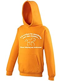I'd Rather Be Mucking Out The Stables Than Tidying My Bedroom! - Novelty Kids Hoodie