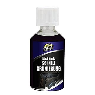 Tifoo Streich-Brünierung Black Magic (50 ml) Kaltbrünierung Brüniermittel - Schnellbrünierung zum einfach selbst brünieren bzw. Stahl schwärzen