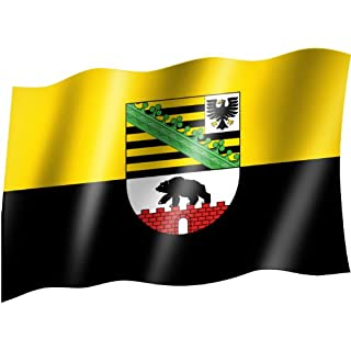 Flagge/Fahne SACHSEN-ANHALT Staatsflagge/Landesflagge/Hissflagge mit Ösen 150x90 cm, sehr gute Qualität