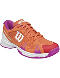 Wilson WRS322500E040, Zapatillas de Tenis Unisex Niños, Varios Colores (Multicolor / Nasturtium / White / Rose Violet), 37 EU