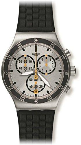 Swatch Reloj Cronógrafo para Unisex de Cuarzo con Correa en Silicona YVS420