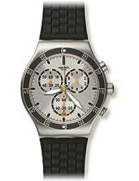 Swatch Unisex Erwachsene Armbanduhr Chronograph Quarz Silikon YVS420