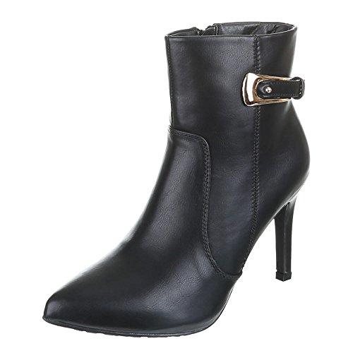 Damen Schuhe, CD5858, CD5858, CD5858, STIEFELETTEN HIGH HEELS Schwarz  [B019YBOG2S] 91240b